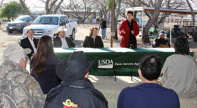 farmer rancher listening session with USDA in south Texas